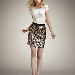 Kate Spade leopard sequined miniskirt